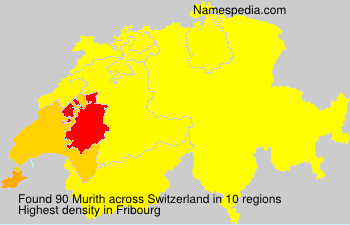 Surname Murith in Switzerland