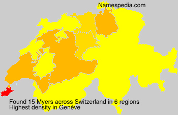 Surname Myers in Switzerland