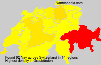 Surname Nay in Switzerland
