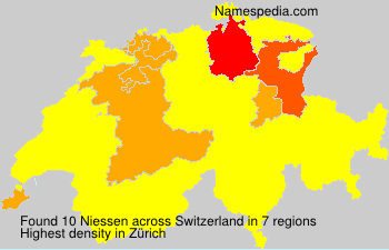 Surname Niessen in Switzerland
