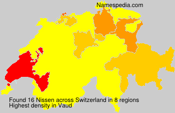 Surname Nissen in Switzerland