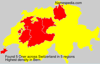 Surname Oner in Switzerland