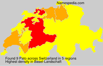 Surname Pato in Switzerland