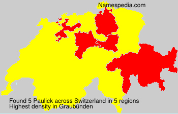 Surname Paulick in Switzerland