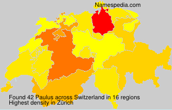 Surname Paulus in Switzerland