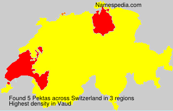 Surname Pektas in Switzerland