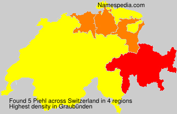 Surname Piehl in Switzerland