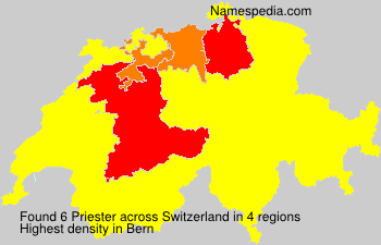 Surname Priester in Switzerland