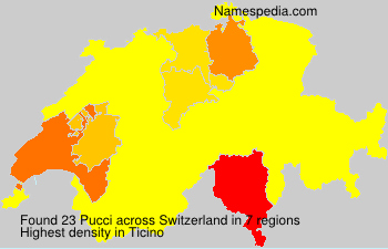 Surname Pucci in Switzerland