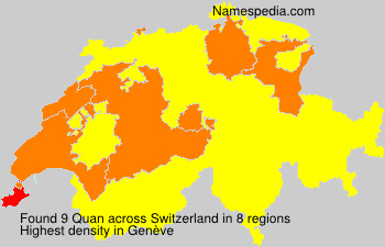 Surname Quan in Switzerland
