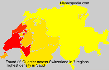 Surname Quartier in Switzerland