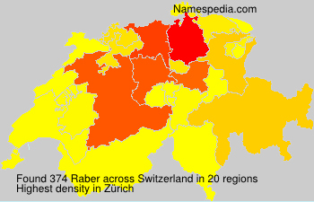Surname Raber in Switzerland