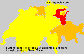 Surname Radojcic in Switzerland