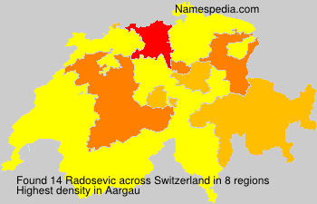 Surname Radosevic in Switzerland