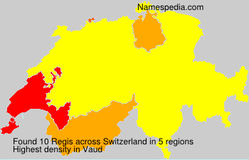 Surname Regis in Switzerland