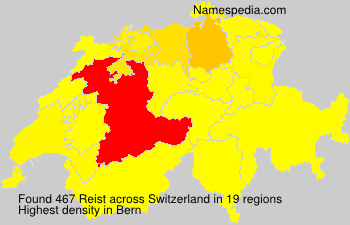 Surname Reist in Switzerland