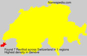 Surname Revillod in Switzerland