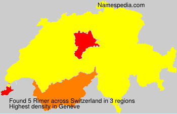 Surname Rimer in Switzerland