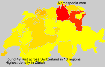 Surname Rist in Switzerland