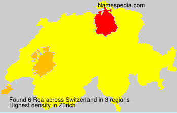 Surname Roa in Switzerland