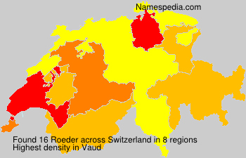 Surname Roeder in Switzerland