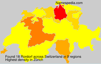 Surname Rordorf in Switzerland