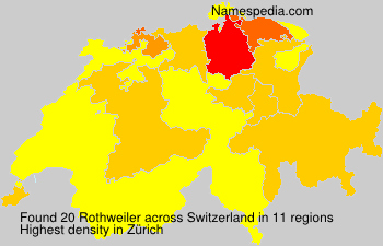 Surname Rothweiler in Switzerland
