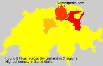 Surname Rrasi in Switzerland
