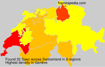 Surname Saez in Switzerland