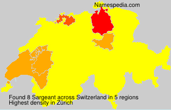 Surname Sargeant in Switzerland