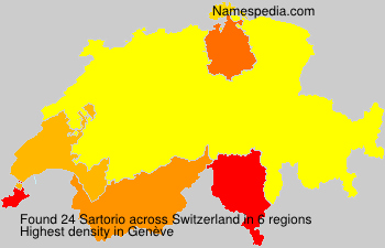 Surname Sartorio in Switzerland
