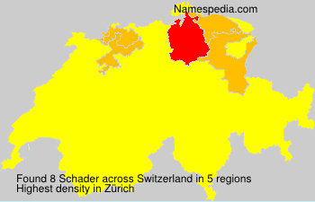 Surname Schader in Switzerland