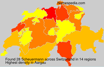 Surname Scheuermann in Switzerland