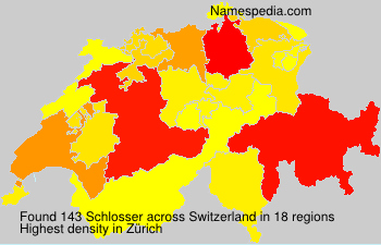 Surname Schlosser in Switzerland