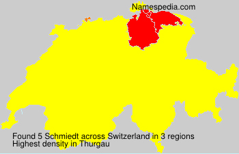 Surname Schmiedt in Switzerland