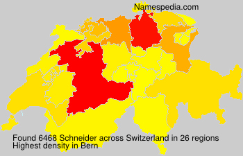 Surname Schneider in Switzerland