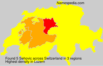 Surname Sehovic in Switzerland