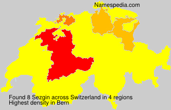 Surname Sezgin in Switzerland