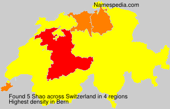 Surname Shao in Switzerland