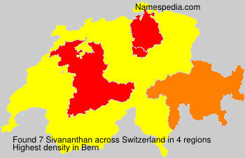 Surname Sivananthan in Switzerland