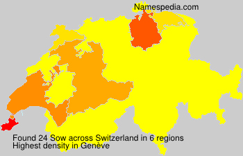 Surname Sow in Switzerland