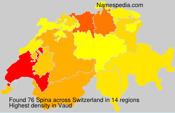 Surname Spina in Switzerland