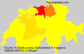 Surname Steeb in Switzerland