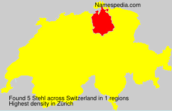 Surname Stehl in Switzerland