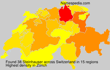 Surname Steinhauser in Switzerland