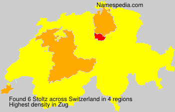 Surname Stoltz in Switzerland