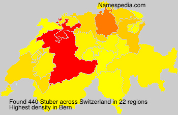 Surname Stuber in Switzerland