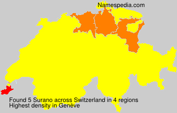 Surname Surano in Switzerland