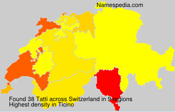Surname Tatti in Switzerland