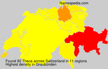 Surname Theus in Switzerland